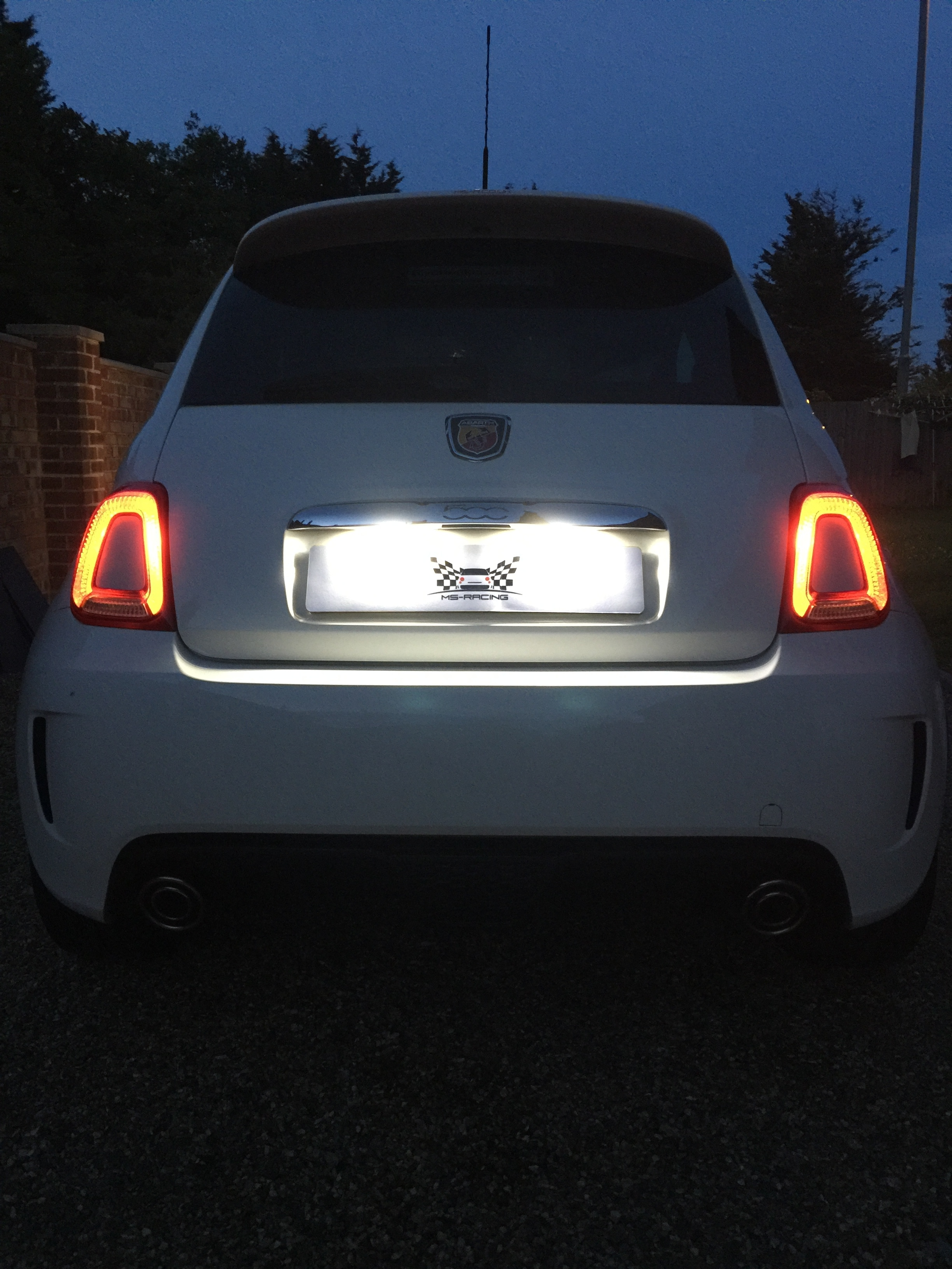 Abarth 500 Led Number Plate Lamps